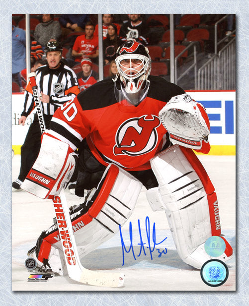 quality design 9e6b6 1f578 Martin Brodeur New Jersey Devils Autographed Game Action 8x10 Photo