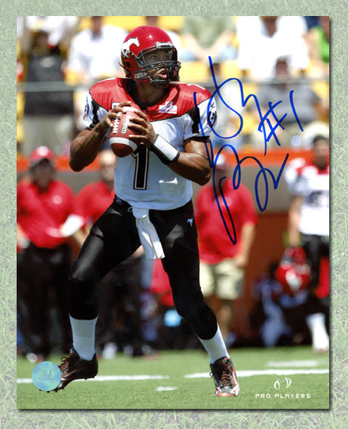 Henri Burris Calgary Stampeders Autographed CFL 8x10 Photo