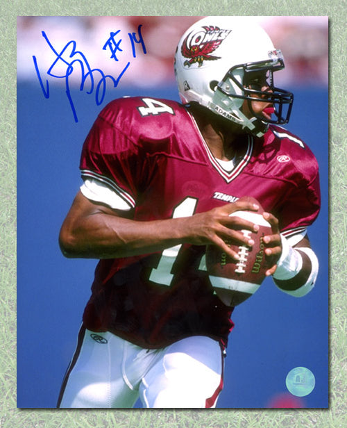 Henri Burris Temple Owls Autographed NCAA 8x10 Photo