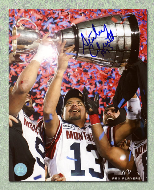 Anthony Calvillo Montreal Alouettes Autographed Grey Cup 8x10 Photo