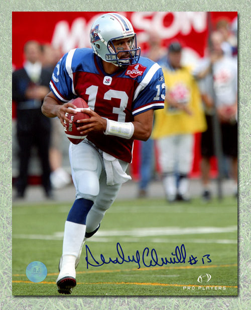 Anthony Calvillo Montreal Alouettes Autographed Game Action 8x10 Photo