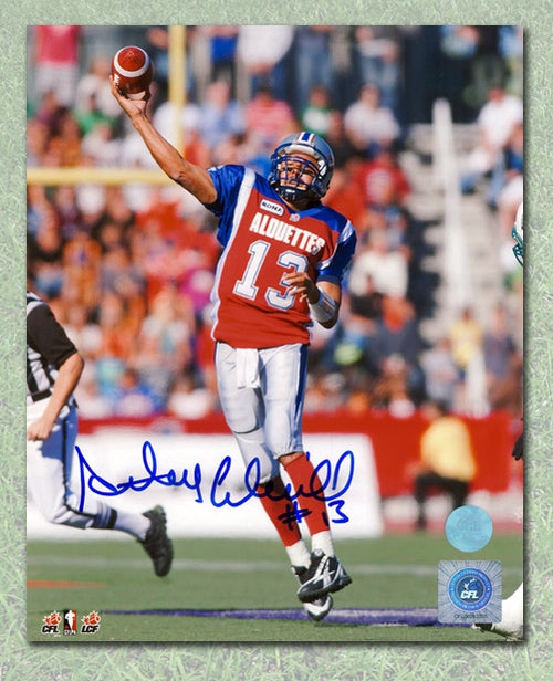 Anthony Calvillo Montreal Alouettes Autographed Hail Mary Pass 8x10 Photo