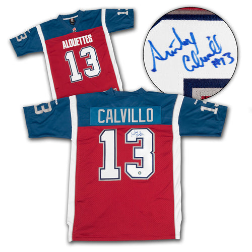 Anthony Calvillo Montreal Alouettes Autographed CFL Football Jersey