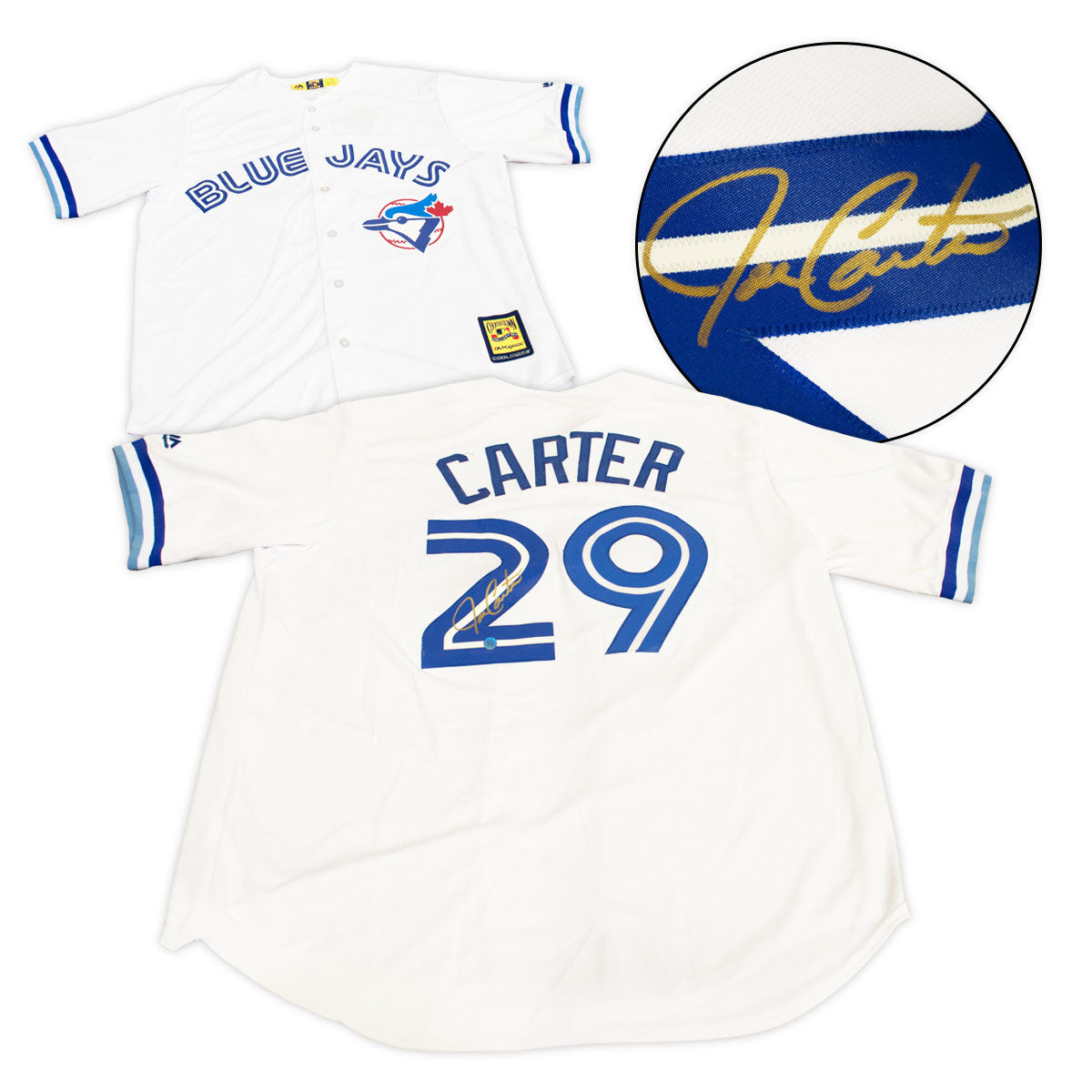timeless design a8696 58749 Joe Carter Toronto Blue Jays Autographed 1993 Retro Cooperstown Baseball  Jersey