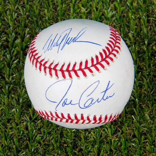 Joe Carter & Mitch Williams Autographed Official 1993 World Series MLB Baseball