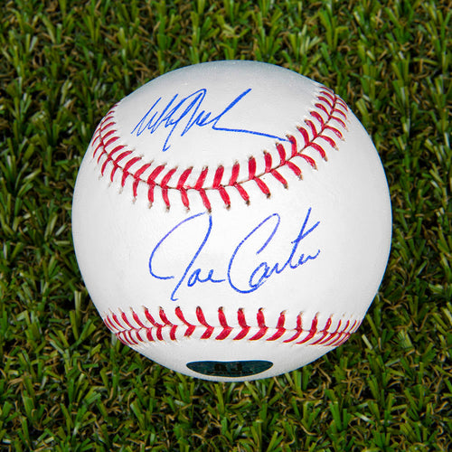 Joe Carter & Mitch Williams Dual Signed MLB Official Major League Baseball