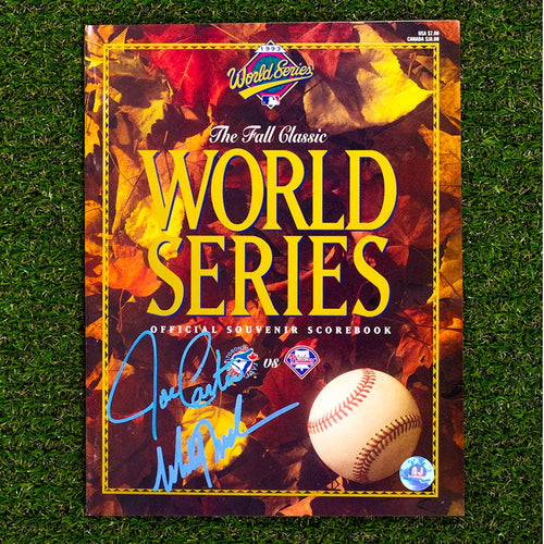 Joe Carter & Mitch Williams Dual Signed Official 1993 World Series Program