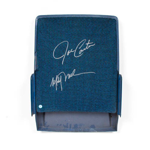 Joe Carter & Mitch Williams Dual Signed Blue Jays SkyDome Stadium Seat Back