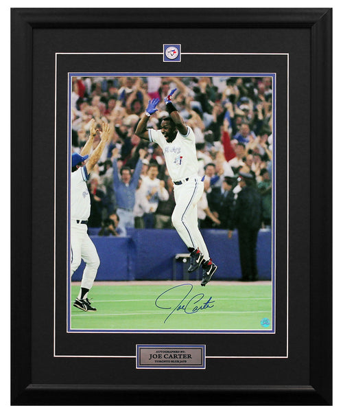 Joe Carter Toronto Blue Jays Autographed 1993 World Series Home Run 25x31 Frame