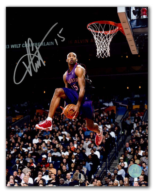Vince Carter Toronto Raptors Autographed Slam Dunk Contest 8x10 Photo