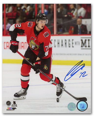 Erik Karlsson Ottawa Senators Autographed 2017 Stanley Cup Playoffs Hockey Puck