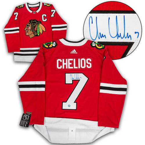 Chris Chelios Chicago Blackhawks Autographed Adidas Authentic Hockey Jersey