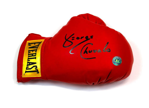 George Chuvalo Autographed Red Everlast Boxing Glove