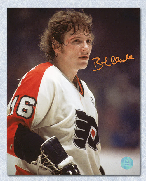 Bobby Clarke Philadelphia Flyers Autographed Bloody Warrior 8x10 Photo