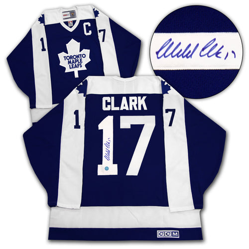 Wendel Clark Toronto Maple Leafs Autographed CCM Vintage Hockey Jersey