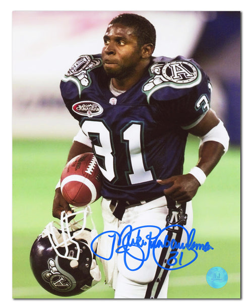 "Mike ""Pinball"" Clemons Toronto Argonauts Autographed CFL Last Game 8x10 Photo"