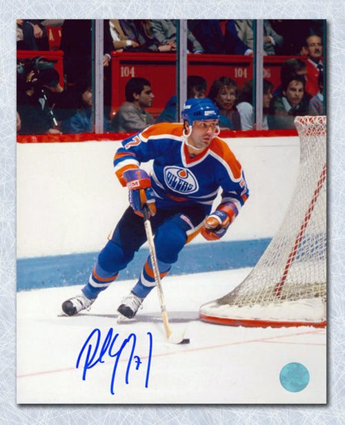Paul Coffey Edmonton Oilers Autographed Playmaker Rush 8x10 Photo