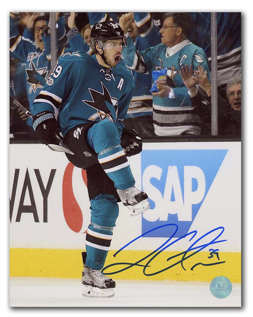 Logan Couture San Jose Sharks Autographed Action 8x10 Photo
