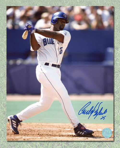 Carlos Delgado Toronto Blue Jays Autographed Baseball 8x10 Photo