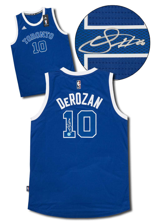 Demar DeRozan Toronto Huskies Signed Raptors Retro Adidas NBA Swingman Jersey
