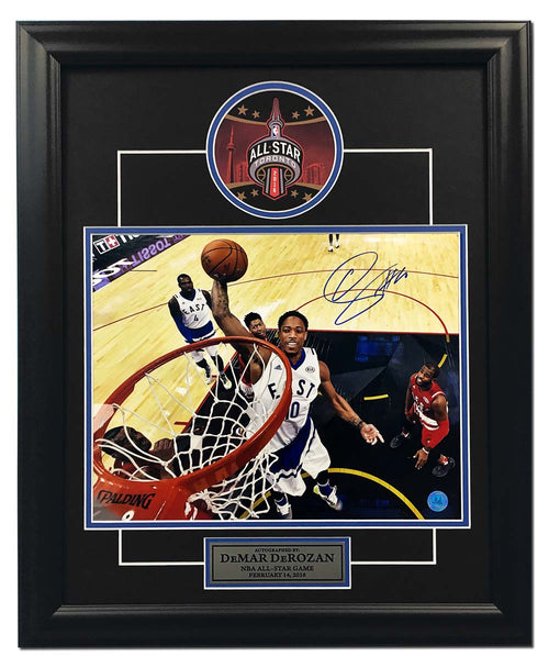 Demar Derozan Toronto Raptors Autographed 2016 All Star Game 19x23 Frame