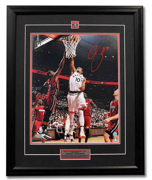DeMar DeRozan Toronto Raptors Autographed Game 7 Playoff Win vs Heat 31x25 Frame