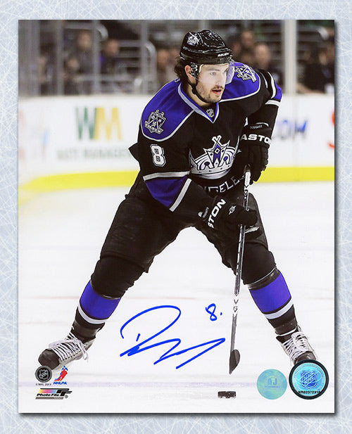 Drew Doughty Los Angeles Kings Autographed Skating with Puck 8x10 Photo