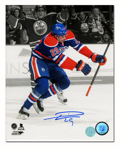 Leon Draisaitl Edmonton Oilers Autographed First NHL Goal Spotlight 8x10 Photo