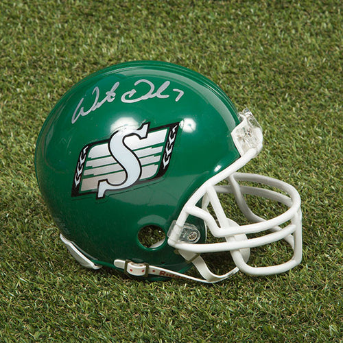 Weston Dressler Saskatchewan Roughriders Autographed CFL Football Mini-Helmet