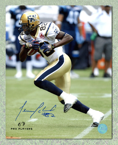 Terrence Edwards Winnipeg Blue Bombers Autographed CFL 8x10 Photo
