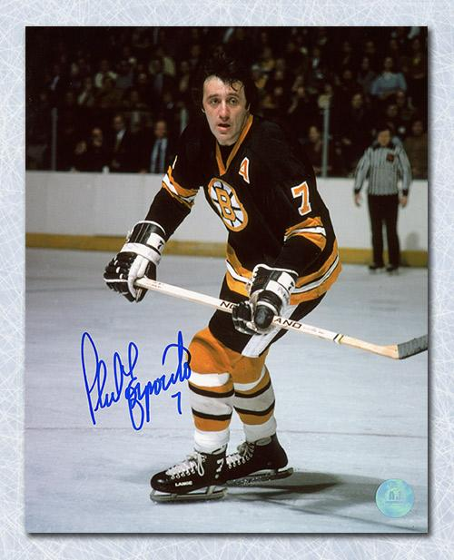 Phil Esposito Boston Bruins Autographed Game Action 8x10 Photo ... 96404b549f7