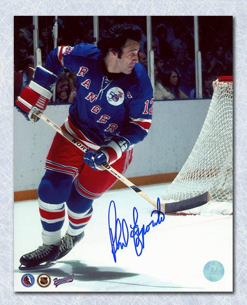 save off afec9 b2659 Phil Esposito New York Rangers Autographed 1st Game 8x10 ...
