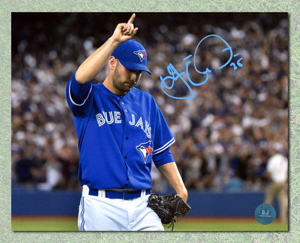 Marco-Estrada-Toronto-Blue-Jays-Autographed-Playoffs-Fan-Salute-8x10-Photo
