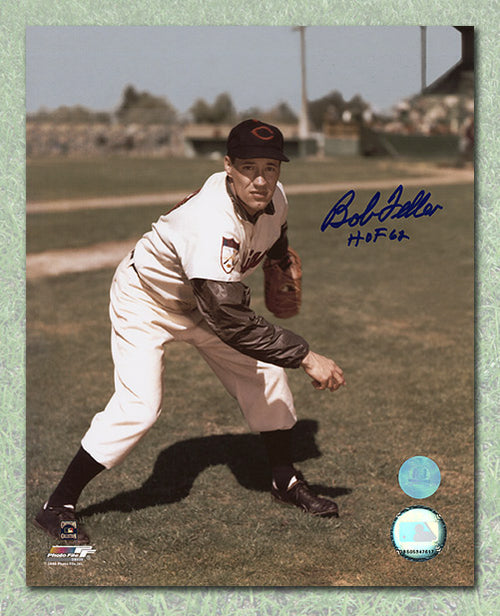 Bob Feller Cleveland Indians Autographed Color 8x10 Photo