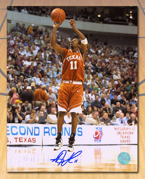 T.J. Ford Texas Longhorns Autographed NCAA Basketball 8x10 Photo