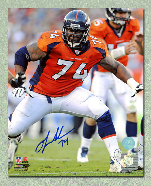 Orlando Franklin Denver Broncos Autographed NFL Rookie 8x10 Photo