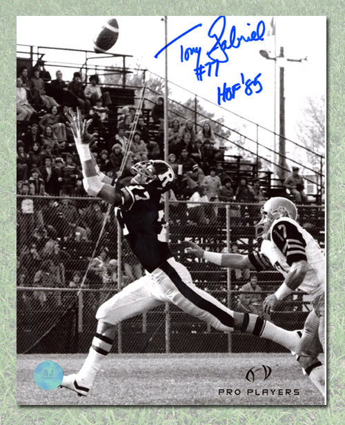 Tony Gabriel Ottawa Roughriders Autographed TD Catch 8x10 Photo