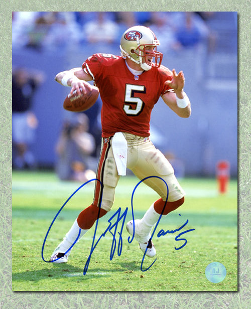 Jeff Garcia San Francisco 49ers Autographed NFL Football 8x10 Photo