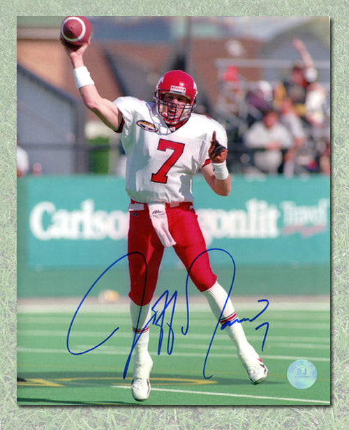 Jeff Garcia Calgary Stampeders Autographed CFL Football 8x10 Photo
