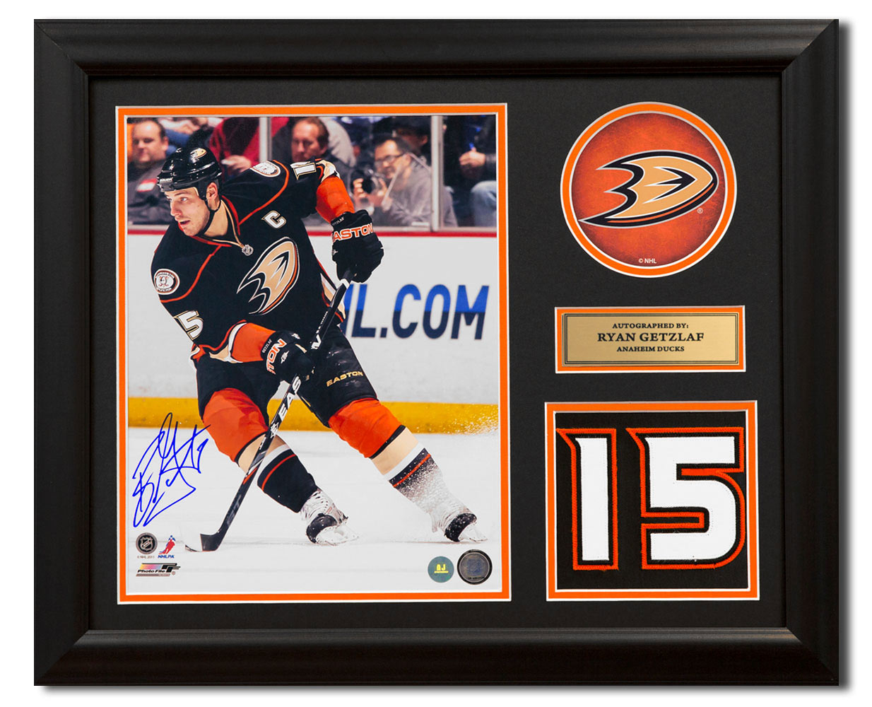 4b920681b7f Ryan Getzlaf Anaheim Ducks Signed Franchise Jersey Number 23x19 Frame