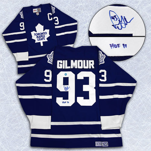 Doug Gilmour Toronto Maple Leafs Signed CCM Vintage Hockey Jersey with HOF Note