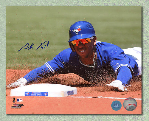 Anthony Gose Toronto Blue Jays Autographed Base Stealing 8x10 Photo