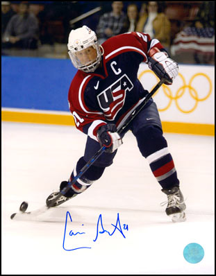 Cammi Granato Team USA Autographed Olympic Hockey Action 8x10 Photo