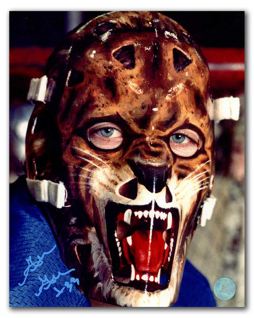 Gillies Gratton New York Rangers Autographed Wolf Mask Close-Up 8x10 Photo
