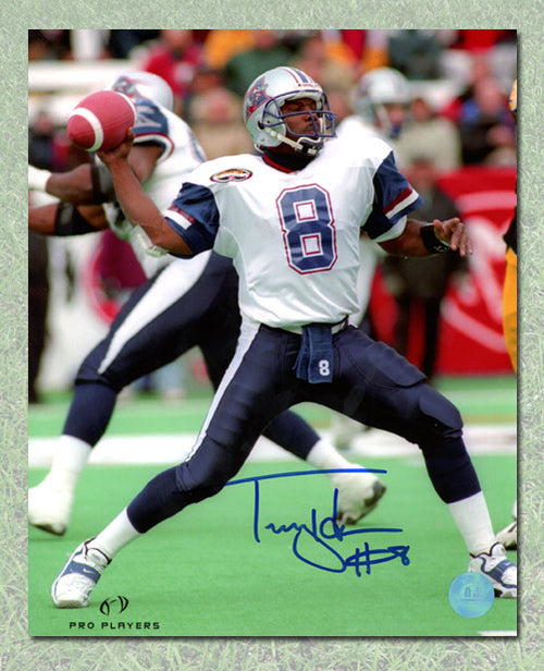 Tracy Ham Montreal Alouettes Autographed CFL Football 8x10 Photo