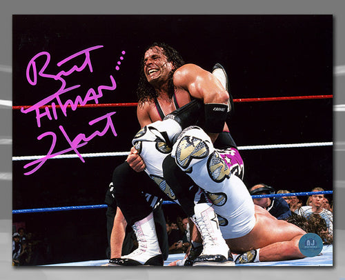 Bret Hitman Hart WWE Autographed Sharpshooter Wrestling 8x10 Photo