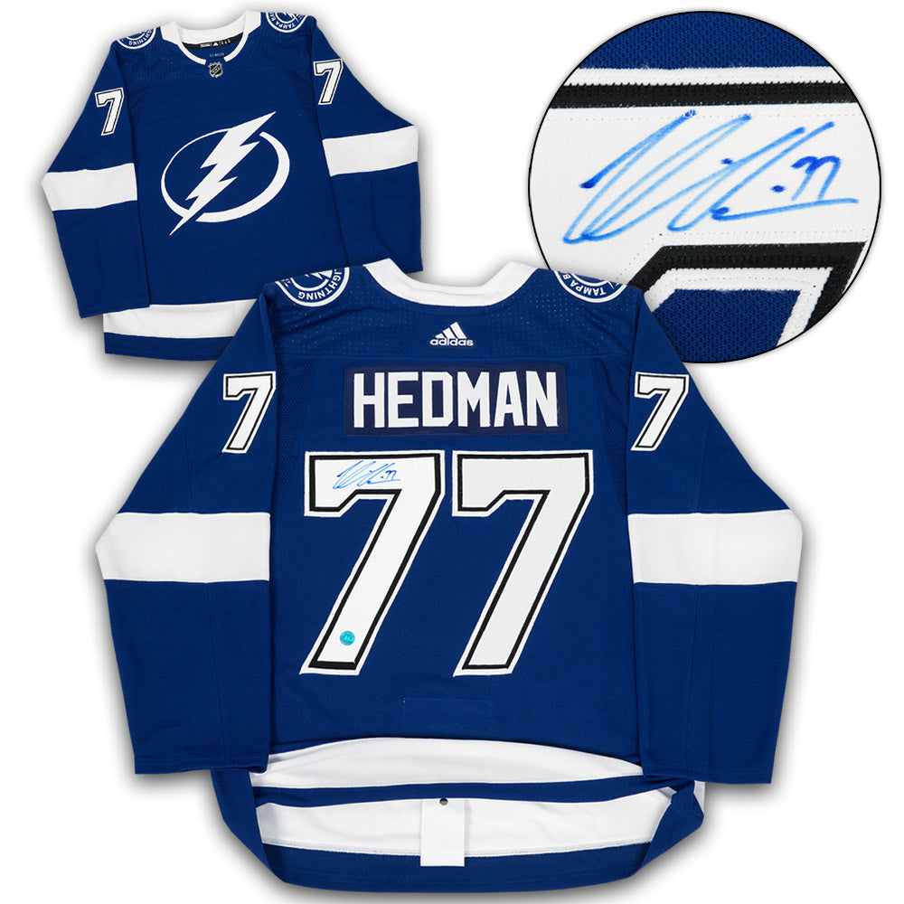 new concept 6d08a 085f5 Victor Hedman Tampa Bay Lightning Autographed Adidas Authentic Hockey Jersey