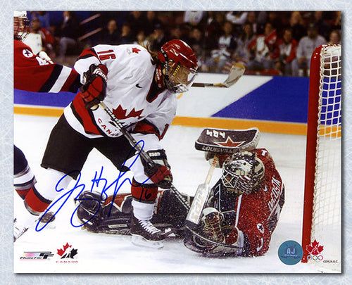 Jayna Hefford Team Canada Autographed 2002 Olympic Hockey Golden Goal 8x10 Photo