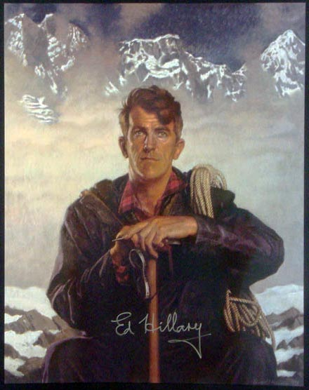 Sir Edmund Hillary Autographed Mount Everest & Beyond Poster