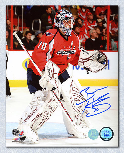 767f332990e Braden Holtby Washington Capitals Autographed Goalie 8x10 Photo ...